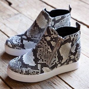 Shoes - Snake wedge sneakers shoes